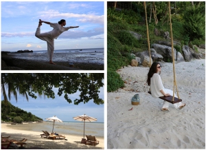 beach & swing & yoga