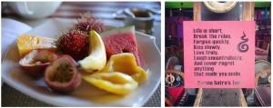fruit plate & karma sutra cafe