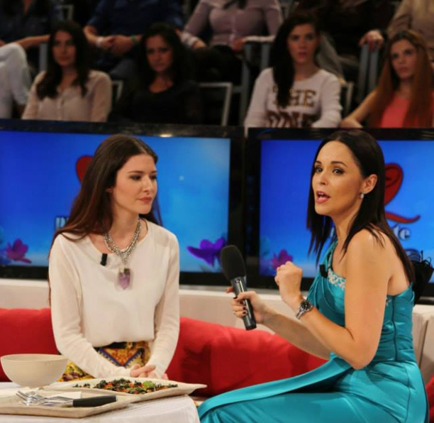 me & Andreea on the live show